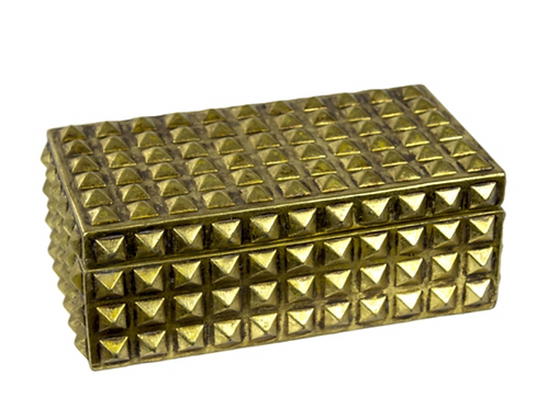 Resin Covered Box - Gold