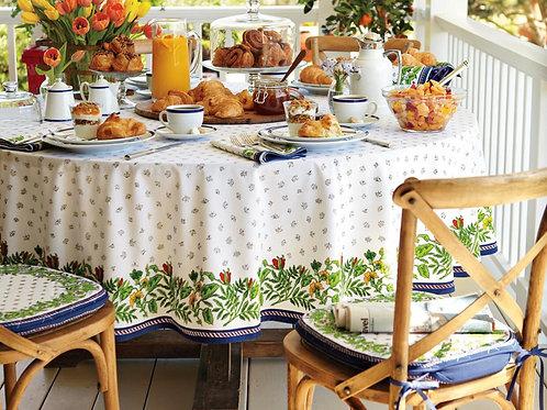 Round Marseille Tablecloth