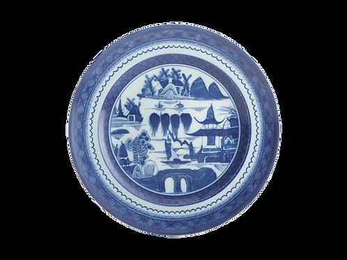 Blue Canton Dessert / Salad Plate- S/4