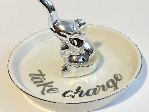 Elephant Take Charge Trinket Dish
