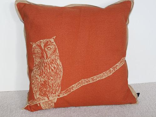 Newport Pillow Feather Filled - Tangerine/Khaki