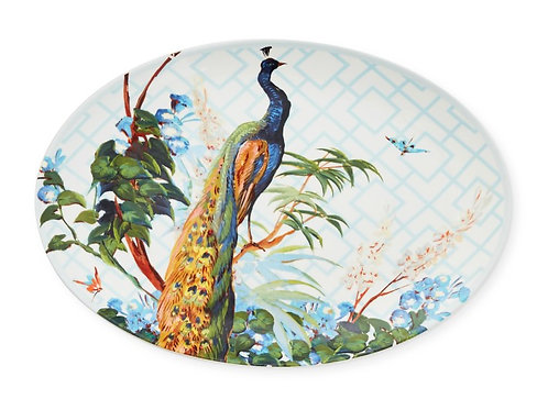Pavao Collection Peacock Oval Platter