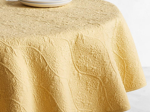 Quilted Vine Round Tablecloth