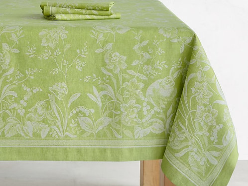 Spring Lime Jacquard Tablecloth