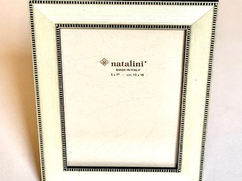 Natalini White w/ Black Border Picture Frame - 4 x 6