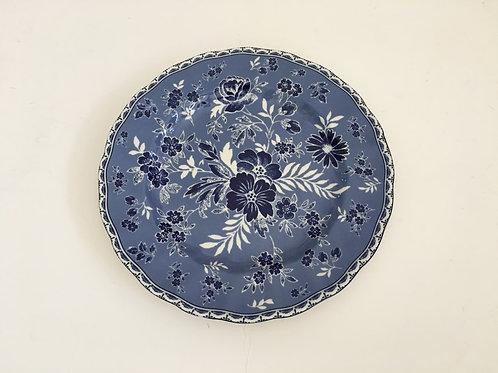 Devon Cottage Floral Blue & White Salad Plate - Set/4