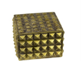 Resin Covered Box - Gold Small
