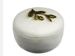 Decorative Resin Covered Box - White