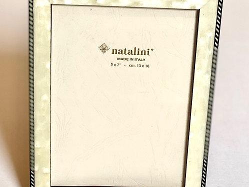 Natalini White w/ Black Border Picture Frame - 5 x 7