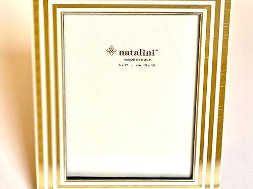 Natalini Gold Stripe Picture Frame - 5 x 7