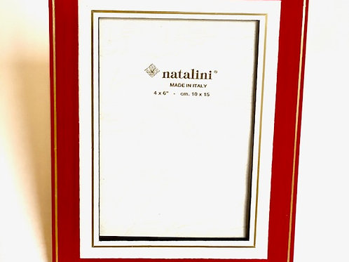 Natalini Red/White Picture Frame -  4 x 6