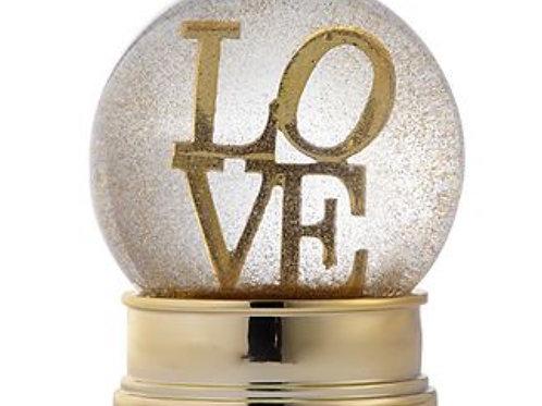 Love Snow Globe With Gold Glitter