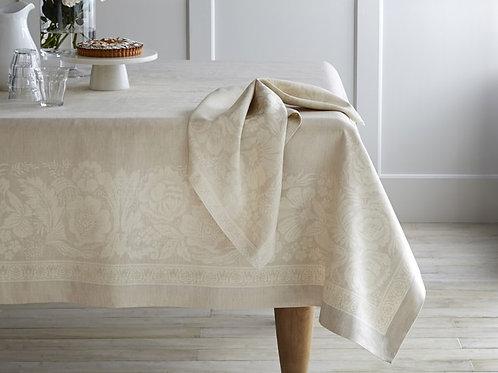 Cream Bloom Jacquard Table Cloth