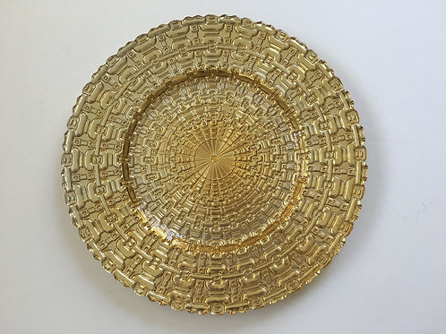 Gold Glass Kronos Charger Plate - 4/Set