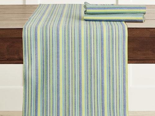 Green & Blue Stripes Table Runner