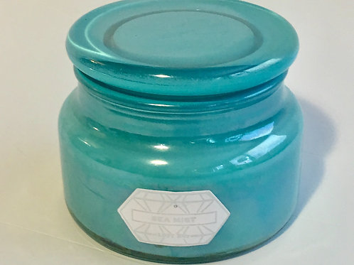 Glass Candle - Aqua or Orange