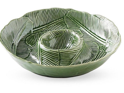 Bordallo Banana Leaf Dip Bowl