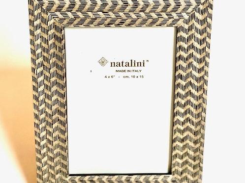 Natalini Picture Frame Brown Chevron - 4 x 6
