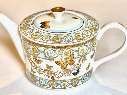Blue Butterfly Teapot & Lid