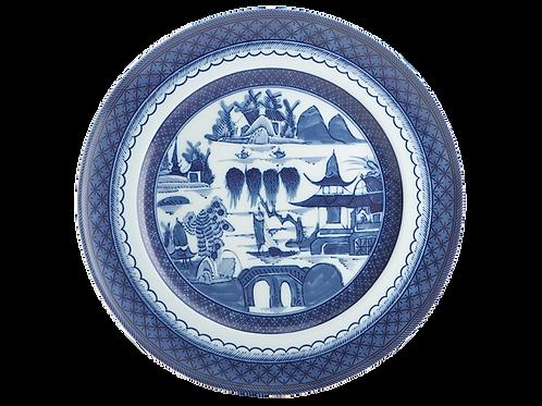 Blue Canton Dinner Plate- S/4