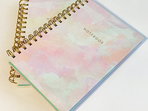 Pink Marbled Notebook