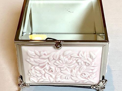 copy of Ornate Jewelry Glass Box Pink Cutout - 4 x 4