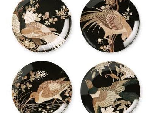 Golden Pheasant Salad Plates- S/4