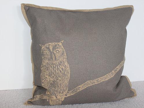 Newport Pillow Feather Filled - Titanium/Khaki
