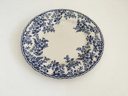 Devon Floral Blue & White Dinner Plate - Set/4