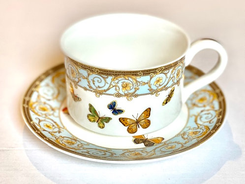 Butterfly Cup/Saucer Set - S/4