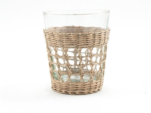Seagrass Wide Cage Tumbler- S/4