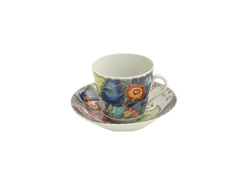 Tobacco Leaf Tea cup & Saucer- S/4