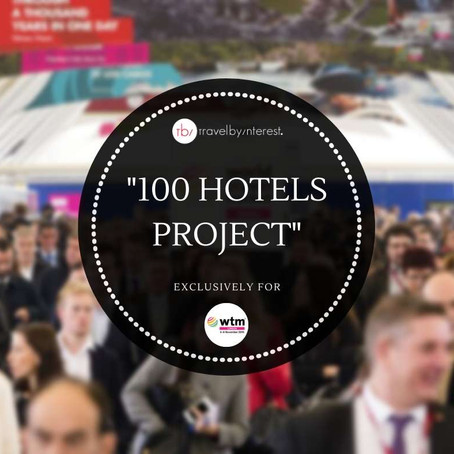 """The """"100 Hotels Project"""" run by Travel by Interest, during WTM London"""