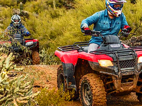 couple on atv's in desert near gila bend az