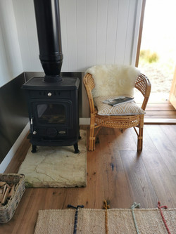 Wood burning stove, Shepherd's Hut