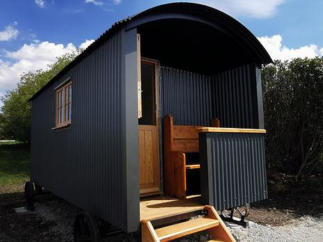 Sunset Bench, Shepherd's Hut, Glamping,