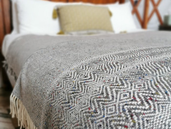 New cosy Donegal woollen blankets