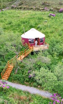 Bird's-Eye View of North Brae Yurt