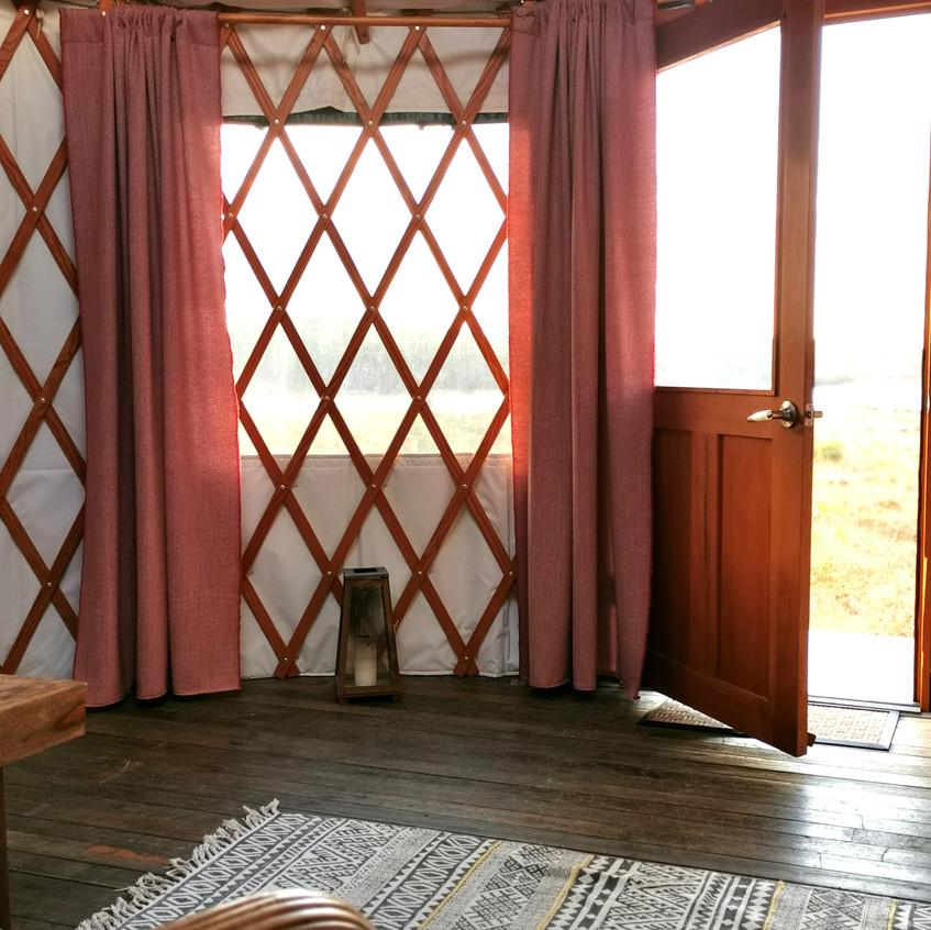 Yurt curtains