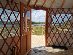 View from Sundew Yurt