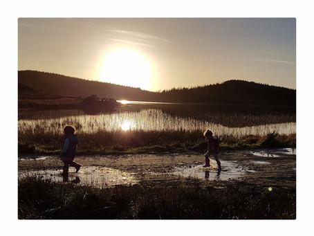 Sunset splash-about