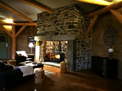 Giant fireplace for the winter months