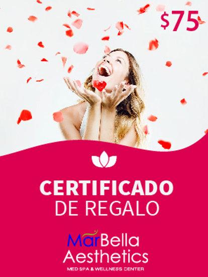 Certificado de Regalo $75