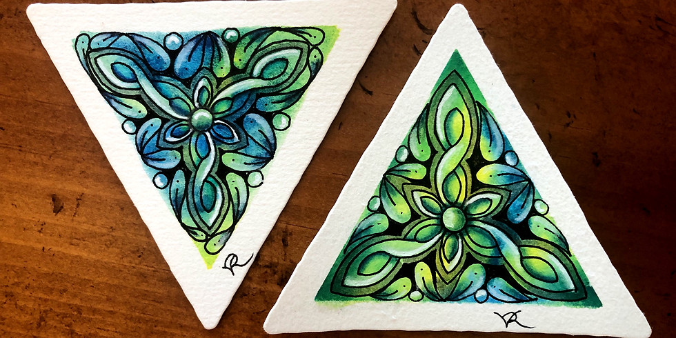 3Z Watercolor Tangling