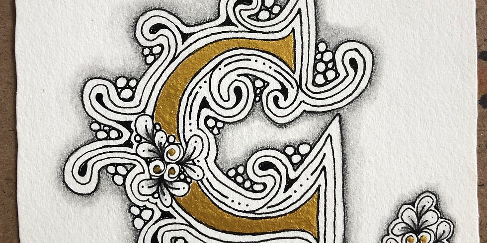 Embedded Letters with Zentangle®