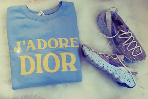 Dior designer inspired sweatshirt