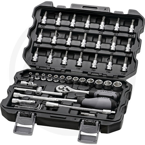 "45 piece 1/4"" socket wrench set"