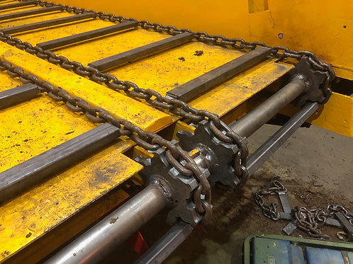 2 Drive Chains with welded lugs @ 9 metres