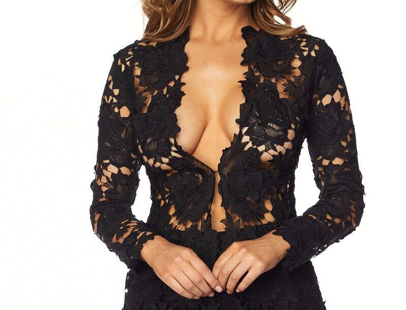 Black Lace Short Set