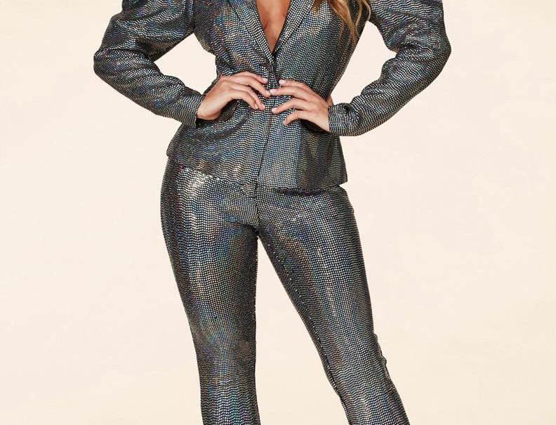 Iridescent Silver Suit
